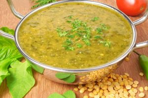 Ultra low fat recipe – delicious Arhar Dal-Palak