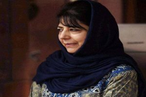 Mehbooba accuses TV channels of false propaganda on Kashmir