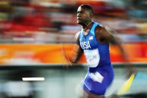 Justin Gatlin trumps Andre de Grasse to win gold at IAAF World Relays