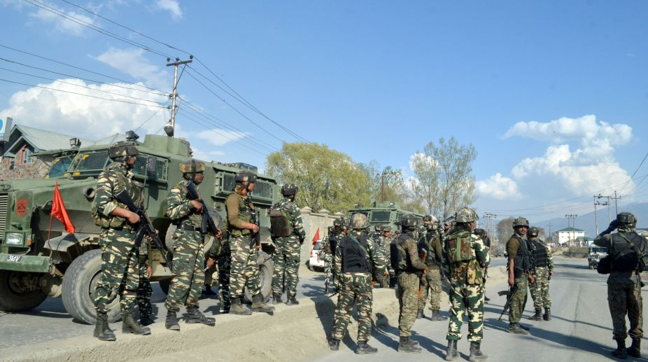 Stone pelting leads to collision, killing 2 jawans