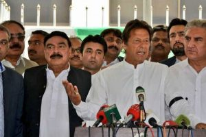 Sharif being provided 'official protocol' is shameful: Imran Khan
