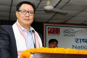 Rijiju undertakes aerial survey of flood-hit areas in Assam