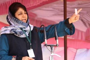 Protect Kashmiri Pandits, their temples, Mehbooba urged