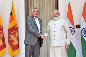 Modi, Sri Lankan PM discuss ways to strengthen ties