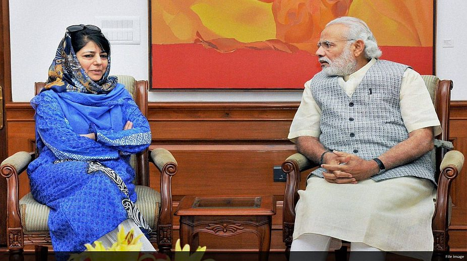 BJP foundation day, Mehbooba Mufti, Jammu-Kashmir CM, Narendra Modi, Kashmiri people, PM Modi
