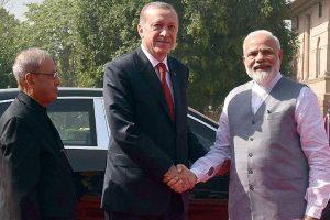Turkish President Erdogan receives ceremonial reception