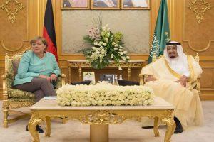 Angela Merkel arrives in Saudi Arabia without headscarf