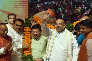 Be humble, be accountable: Shah's mantra to UP leaders, workers