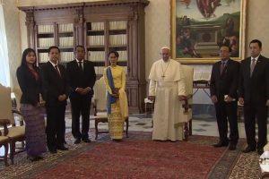 Aung San Suu Kyi meets Pope