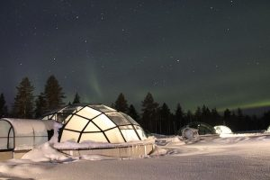 Land of bright nights and glass igloos