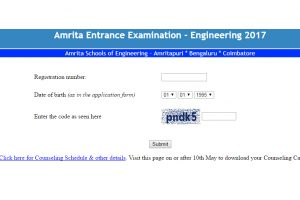 Amrita University AEEE results 2017 announced at www.amrita.edu | Check now