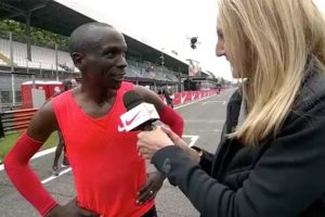 Eliud Kipchoge narrowly misses two-hour marathon attempt