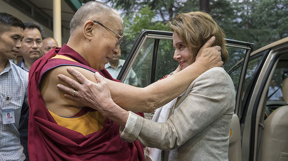 Pelosi-led US delegation reaches Dharamshala to meet Dalai
