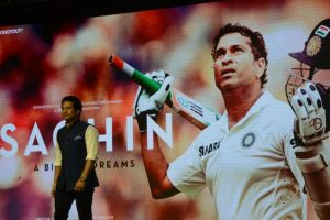Sachin's biopic premiered exclusively for his adopted village Puttamraju