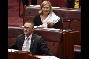 Australian senator breastfeeds in Parliament