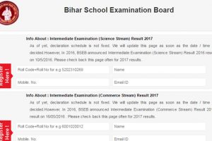 BSEB Bihar Board Class 12 results 2017/Intermediate results 2017 for Science, Commerce, Art stream not yet declared | Know more at www.biharboard.ac.in