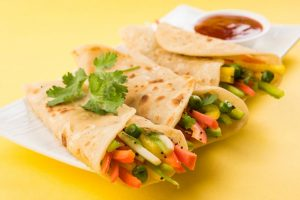Weekend Delight: Diet Vegetable Kathi Roll