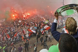 Feyenoord celebrate long-awaited Dutch title with fans in Rotterdam