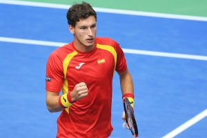 Rome Open: Pablo Carreno beats Giles Simon in opener