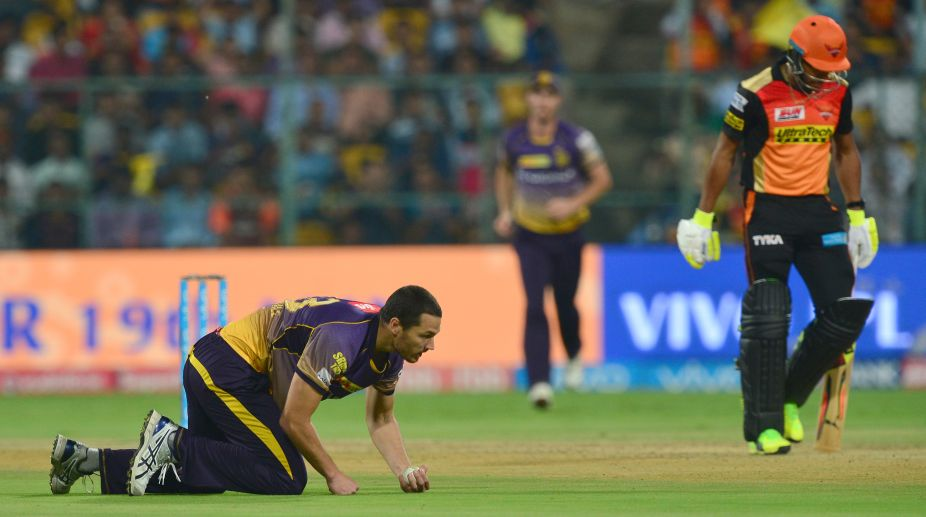 Heavy showers delay second innings in KKR-SRH IPL Eliminator