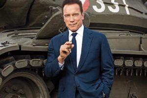 Schwarzenegger enjoys beach time at Cannes
