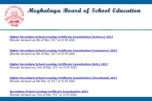 MBOSE SSLC results 2017, HSSLC results 2017 announced at www.megresults.nic.in   Check now