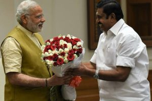 TN CM meets PM, seeks Central help for various schemes