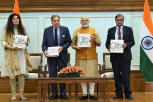 Modi releases book on Tata Memorial Centre
