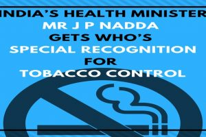 WHO honours Health Minister Nadda with Award