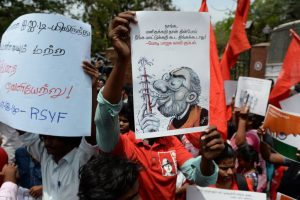 Students protest against attack on IIT-Madras student