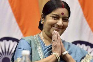 Sushma Swaraj calls on visiting Afghan President