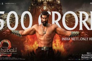 Baahubali mints Rs.500 crore at the box office