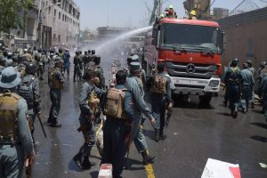 Kabul: Protesters clash with police near bombing site