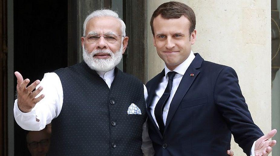 Image result for Narendra Modi meets French Prime Minister