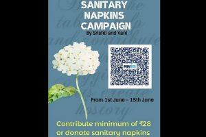 Mohali girls start campaign for sanitary napkins