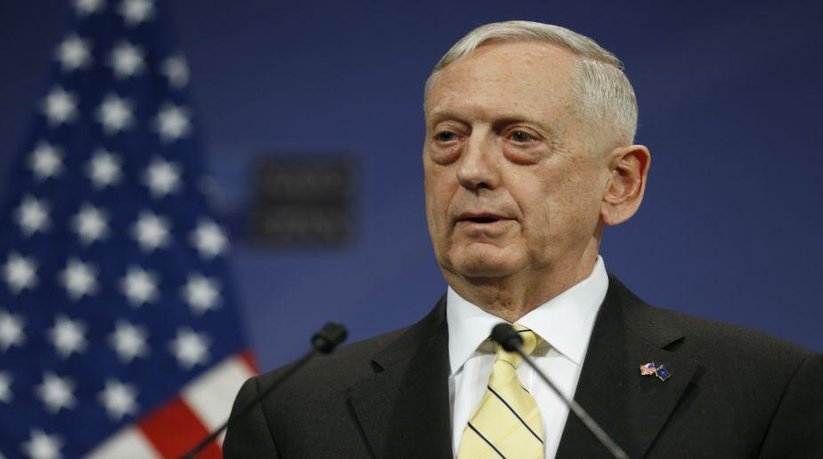 US Defence Secretary Jim Mattis (PHOTO: AFP)