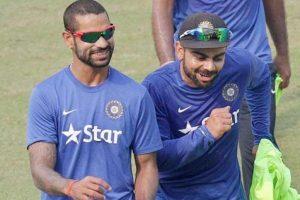 Pics inside: Virat Kohli gives head massage to Shikhar Dhawan
