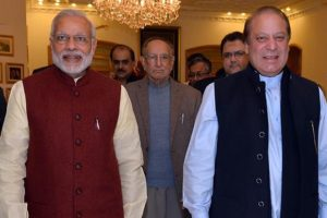 Modi meets Sharif in Kazakhstan