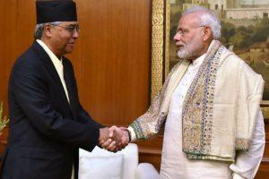Nepal PM Deuba arrives on India visit