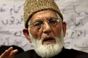 Geelani stresses on tripartite talks on Kashmir