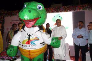 Odisha CM welcomes Asian Athletics Championship mascot Olly
