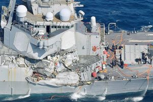 US Navy ship collides with merchant ship; 7 missing