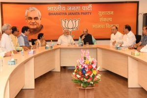PM Modi attends BJP Parliamentary Board meeting to finalise presidential nominee