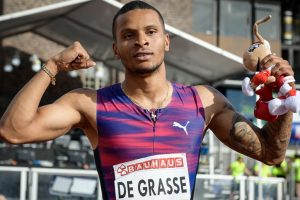 Andre De Grasse sprints to impressive win at Stockolm