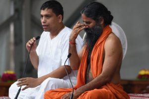 Ramdev guides through massive yoga event in Ahmedabad