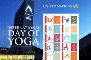 Stamps release, water puja mark Yoga celebrations at UN