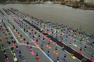 Mumbai celebrates yoga day on land, ships, submarines