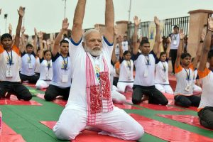 Modi promotes Yoga for political advantage: Congress