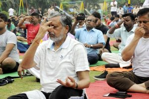 Bihar's grand alliance stays away from Yoga Day
