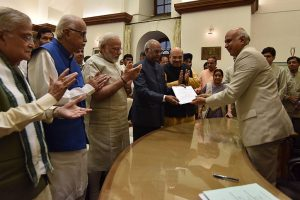 PM Modi by his side, Ram Nath Kovind files papers for presidential poll